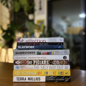 Queerstories book stack